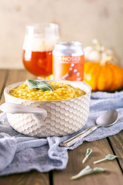 pumpkin ale risotto