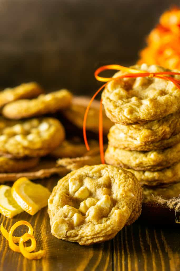 A ginger-maple cookies with an orange twist on the side.