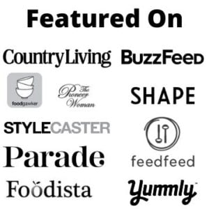 White and black logos of the publications that have featured Burrata and Bubbles
