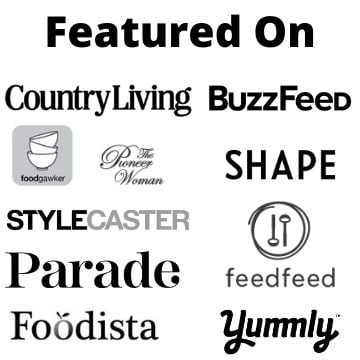 A collection of black and white logos from publications that have featured Burrata and Bubbles