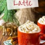 Looking for a cozy holiday latte recipe? You'll love this homemade gingerbread latte! This festive latte is basically a Starbucks copycat gingerbread latte that you can easily make at home. This Christmas coffee will be a new favorite tradition!